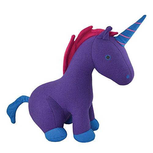 Yogibo Mates Stuffed Animals, Huggable Cute Plush Toys for Kids, A Soft Huggable Friend, Sensory Toy with Soft Mini Bean Fill, Unicorn