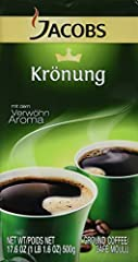 Full-bodied flavor that is easy on the stomach Enjoy Germany's most popular coffee, hand-selected from the finest coffee beans in the world Jacobs Kronung, 17.6 ounce ground coffee