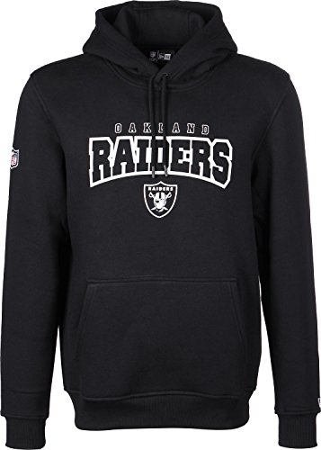 New Era A NFL Ultra Fan Pullover/Hoody, Sweatshirt Oakland Raiders, für Herren M Black (Schwarz)
