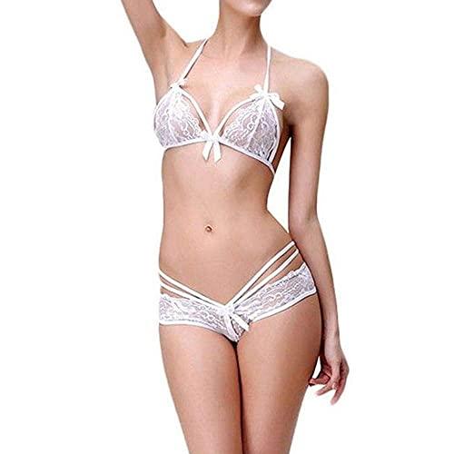 Walentynkowa seksowna bielizna pokusa piżama erotyczna babydoll kobiety seksowna koronkowa bielizna zestaw bielizny nocnej Hollow Out Porno biustonosz stringi bielizna erotyczna piżama