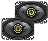 KICKER CS Series CSC46 4 x 6 Inch Car Audio System Speaker, Yellow (2 Pack)