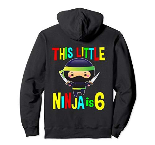 Geburtstag Ninja Geschenke 6 Jahre alt Party Thema Kostüm Pullover Hoodie