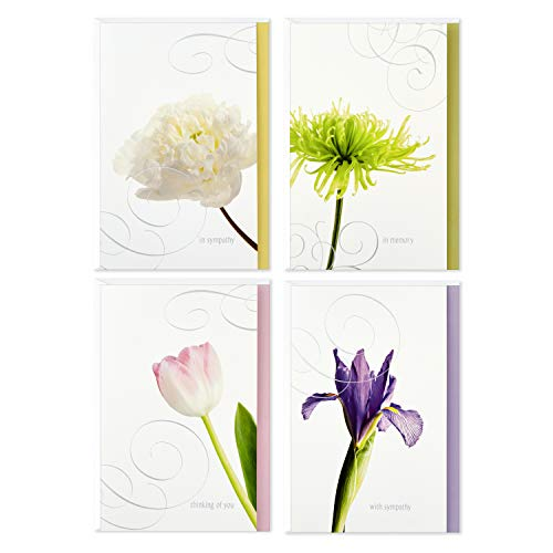 Hallmark Assorted Sympathy Cards (Flowers, 12 Cards and Envelopes)