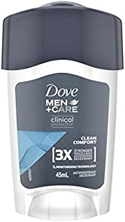 Dove Men+Care Clinical Protection Antiperspirant Deodorant Cream Clean Comfort, 45ml