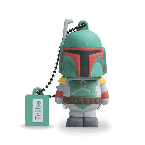 Tribe Disney Star Wars Boba Fett USB Stick 8GB Speicherstick 2.0 High Speed Pendrive Memory Stick Flash Drive, Lustige Geschenke 3D Figur, USB Gadget aus Hart-PVC mit Schlüsselanhänger – Mehrfarbig