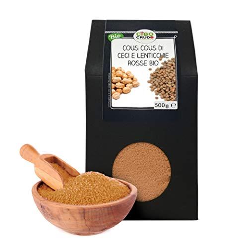 Cibocrudo Cous Cous Di Lenticchie Rosse E Ceci Biologico, Senza Glutine, Per Ricette Con Lenticchie...
