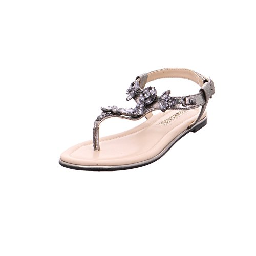 Buffalo Shoes Damen 14S07-21 Zehentrenner, Grau (Pewter 01), 41 EU