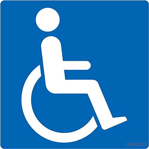 Stika.co, adesivo per auto con logo disabili, in vinile, 11 cm x 11 cm, per uso esterno