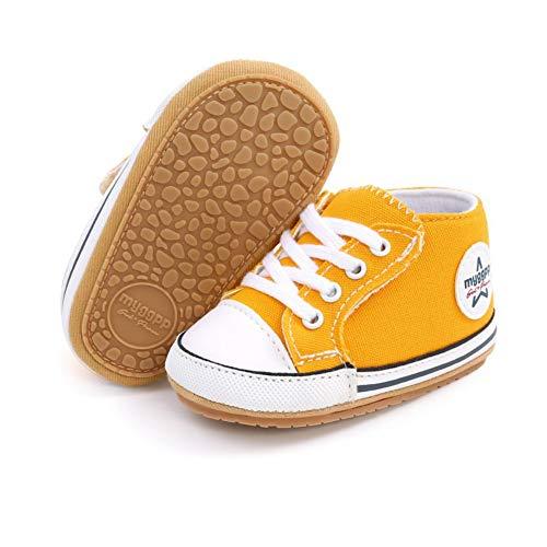 Scarpe di tela per bambini, scarpe sportive casual, suola morbida antiscivolo per primi scarpe per camminare per bambini Giallo Size: 12-18 meses Ancho