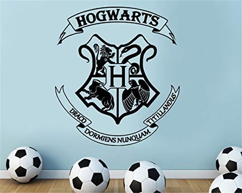 Wandtattoo Wohnzimmer Harry Potter Hogwarts Wappen geschnitten Wandkunst Aufkleber für Kinderzimmer Dekoration Jungen Schlafzimmer Aufkleber