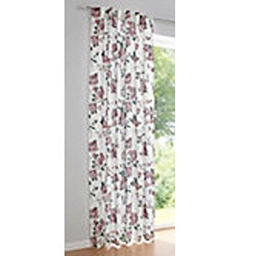 Dekostore, Farbe weiß/Rose, 1 Stück, Heine Home, 622 - Gardinen, Größe: ca. HxB: 245x140 cm, mit verdeckte Schlaufen