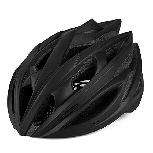S-TK Casco De Bicicleta Hombres, Micro Casco Giro Casco De Bicicleta Casco De Bicicleta De Carretera Casco De Bicicleta con Luz 58cm-62cm Negro Cascos MTB