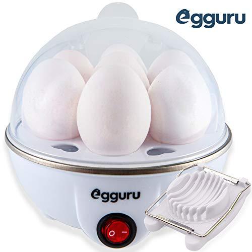 Egguru Electric Egg Cooker Boiler Maker Soft, Medium or Hard Boil, 7 Egg...