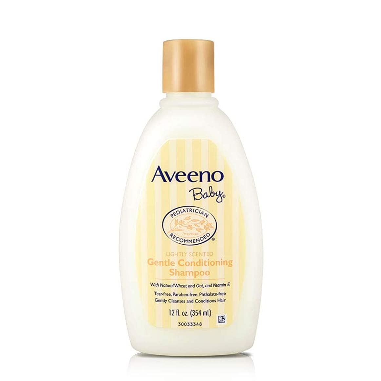 以下捕虜まばたきAveeno, Baby, Gentle Conditioning Shampoo, Lightly Scented, 12 fl oz (354 ml)