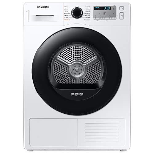 Samsung Elettrodomestici DV90TA040AH/ET Asciugatrice Crystal EcoDry, Front Load, 9 kg, Bianco, Oblò Nero