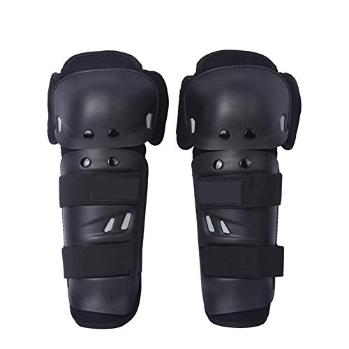 Knee Shin Guards Children & Adults Knee Pads Protector Flexible Breathable Adjustable Knee Support Protective Pads Guard for Motorcycle Mountain Bike. Black HXG11 (M 5x10x15 Inch 13cmx25cmx38cm)