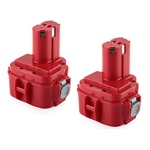 2 Pezzi Energup 12V 3000mAh Ni-Mh Batteria di Ricambio per Makita 12V 1220 1222 PA12 1233S 1234 1233 1235 1235B 1235F 192696-2 192698-8 192698-A 193138-9 193157-5