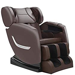 Full Body Electric Zero Gravity Shiatsu Massage Chair with Bluetooth Heating and Foot Roller for Home