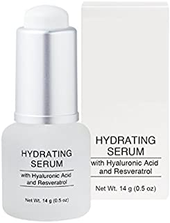 Jolie Hydrating Face Serum - Hyaluronic Acid & Resveratrol - Concentrated Hydrating Face Serum with Vitamin C + E - Anti-A...