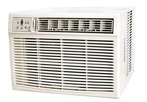Keystone 25,000/24,700 230V Window/Wall Air Conditioner with 16,000 BTU Supplemental Heat Capability, 25,000, White
