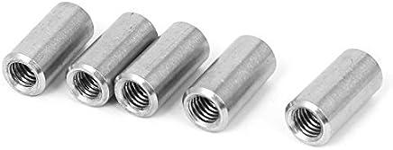 DealMux a16050300ux0577 Rodada conector Nuts M8 em aço inoxidável 304 com rosca Rose Joint Adapter Rodada