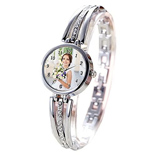 Reloj Personalizado con Imagen Reloj De Mujer Reloj De Oro Rosa Reloj Plateado Reloj Impermeable Reloj De Aleación Cumpleaños Boda Regalo Personalizado