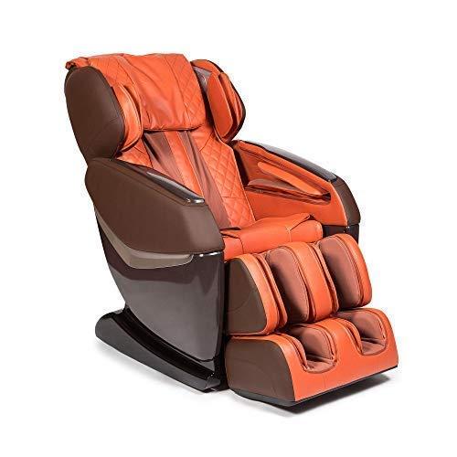 KENSHO® Massagestuhl - Orange (Modell 2021) - Schwerkraft undNull-Raum, Luftdrucktherapie, Fußreflextherapie, Rückenthermotherapie, intelligentes Körperscansystem, 3D-Surround-Sound, Bluetooth