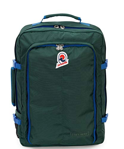 Zaino INVICTA - FREEWAY - Verde - 43 LT - viaggio bagaglio a mano - 35 x 50 x 17 CM