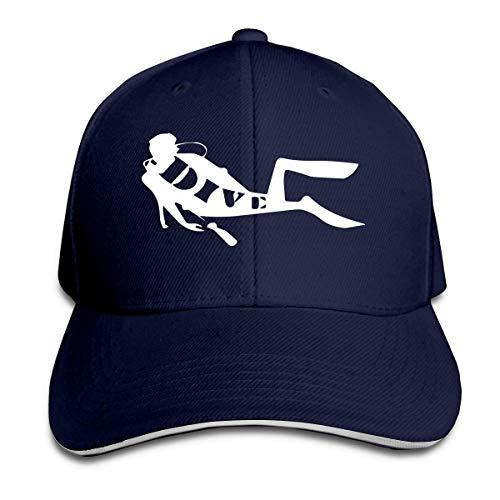 Ahdyr Sombrero Unisex Gorra de béisbol de Buceo clásica Sombreros sándwich de Pico Ajustables
