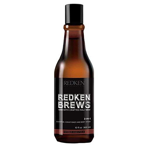Redken brews man 3-in-1 shampoo, conditioner e bodywash 300ml.