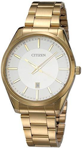 Citizen 60497 Reloj para Hombre Redondo Análogo, color Dorado