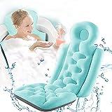 Almohada de baño de baño completo Almohada de bañera de spa ergonómica for la bañera con 10 tazas de succión antideslizantes for el soporte trasero del hombro de la cabeza, accesorios de baño, se adap
