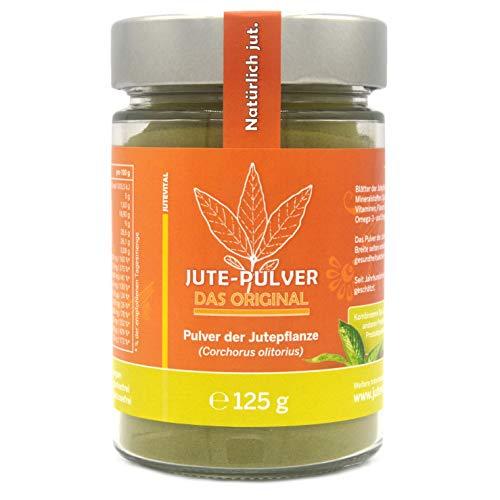 Jute-Pulver: 70% mehr Eisen als Moringa + 15-mal mehr Vitamin K als Hagebutten + 5-mal mehr Calcium als Baobab + 3-mal mehr Vitamin E als Weizengras | vegan - glutenfrei - laktosefrei