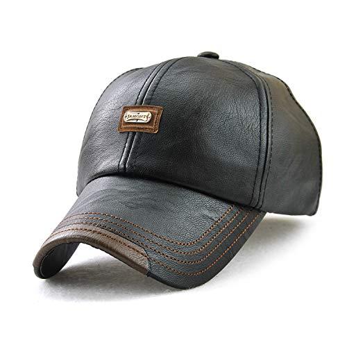 Gorra de béisbol de cuero de la PU de los hombres de...