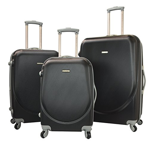 TPRC 3 Piece 'Barnet Collection' Hardside Expandable Spinner Luggage Set, Black Color Option