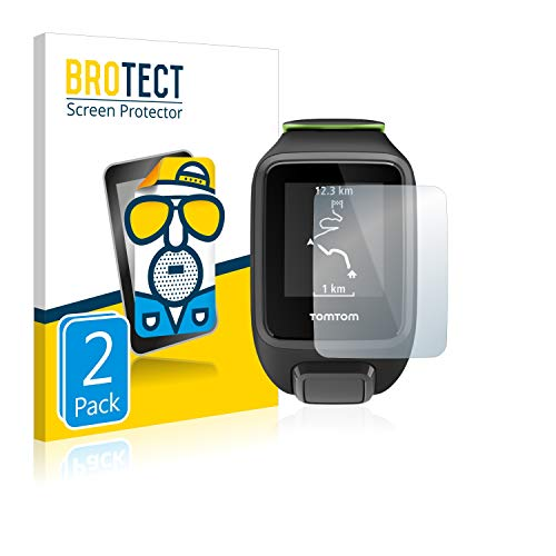 BROTECT 2X Entspiegelungs-Schutzfolie kompatibel mit Tomtom Runner 3 Bildschirmschutz-Folie Matt, Anti-Reflex, Anti-Fingerprint