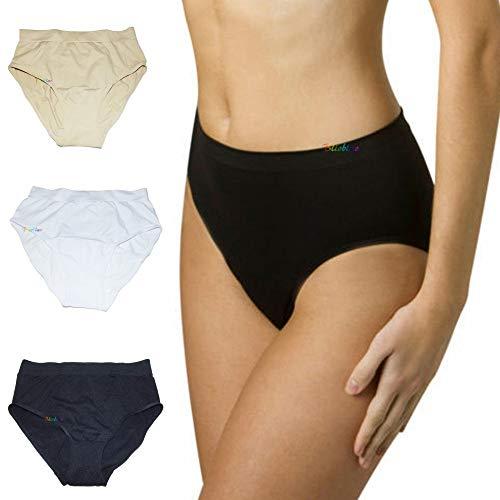 TradeShopTraesio- 3 Pezzi Genie Pants Slip Mutande per Donna Microfibra Elasticizzati Traspiranti