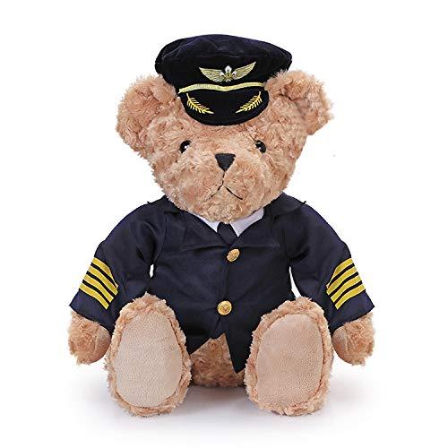 Captain Teddy Aviation Pilot Bear Gift Pilots
