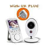 PHASFBJ Vigila Bebes Monitor, 2.4' Inalmbrica Audio Vigilabebes con Conversacin Bidireccional, Visin...