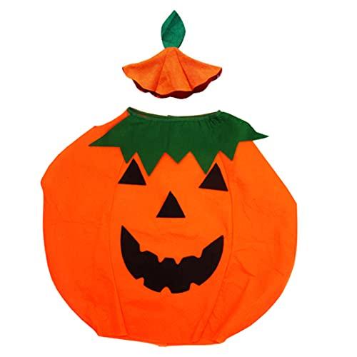 Obelunrp Disfraces de Calabaza de Halloween Vestido de Halloween Creativo Creativo Forma de Calabaza Disfraz de Cosplay Traje de Disfraces para nios Navidad Decoraciones de Halloween