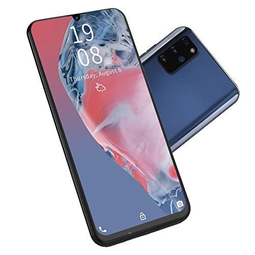 Sxhlseller Smartphone, S20 + 7,2 Pulgadas para Pantalla de Gota de Agua Reconocimiento Facial Tarjetas Dobles Doble Modo de Espera Teléfono Móvil Desbloqueado 1 + 16 GB de Cuatro Núcleos(Negro)