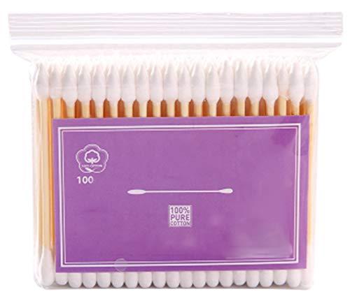 Cotons-tiges de sécurité 100 pièces Coton-tige à double pointe Bâtons de nettoyage polyvalents #27