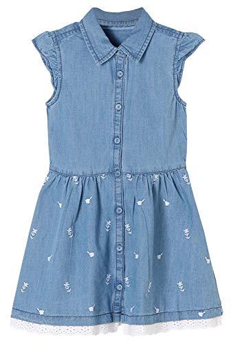 s.Oliver Junior Mädchen Kleid Kinderkleid, 53Y2 blue denim non str, 128/REG