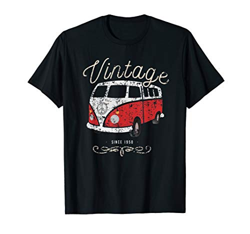 Vintage Bus Wohnmobil outdoor camping T-Shirt