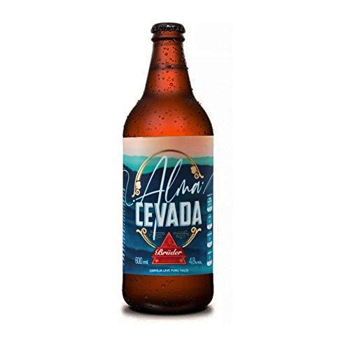 Cerveja Zero Carboidratos Alma Cevada Bruder Puro Malte 600ml