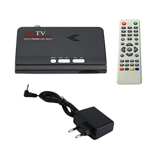 Ballylelly Digital Terrestre HDMI 1080P DVB-T / T2 Smart TV VGA AV CVBS Sintonizador Receptor con Control Remoto HDMI HD 1080P VGA DVB-T2 Smart TV
