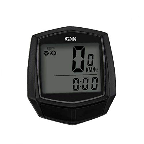 Bicycle Speedometer and Odometer Wired Waterproof Stopwatch Cycle Bike with LCD Digital Display (Black)