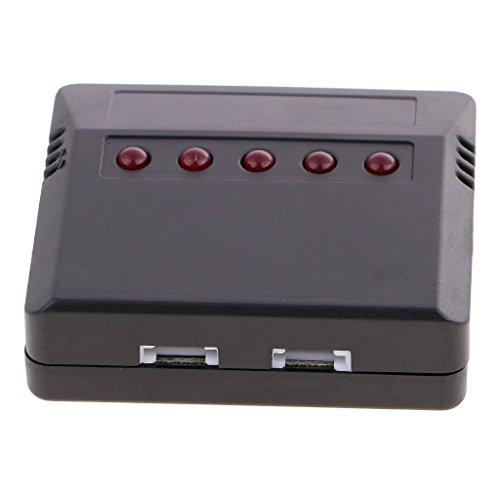 sharprepublic Cargador USB del Puerto del Cargador 5 del Adaptador De La Batería De 3.7V Lipo con El Cable para RC Syma