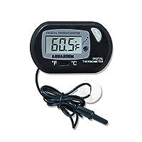 ディスク加熱ペット 水族館水の温度計プラスチック製デジタルLCDスクリーンセンサコントローラ有線水槽のアクセサリー1ピース ペット加温ランプ