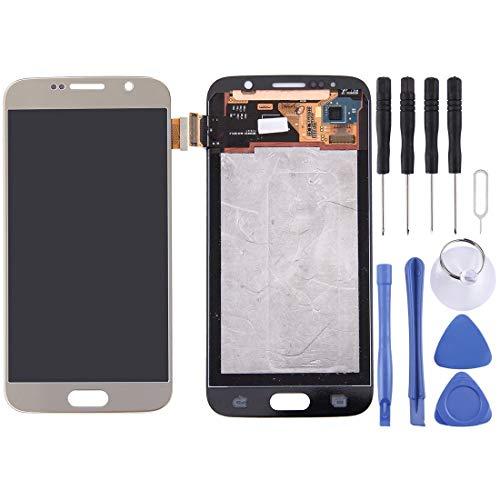 Piezas de Repuesto For Samsung Galaxy S6 / G9200 Pantalla LCD Original Asamblea de digitalizador de Pantalla táctil (Color : Gold)